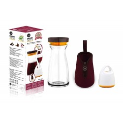 FOSA O2Go Combo set, Vacuum unit plus glass jug 34oz and pouch bag WD30001
