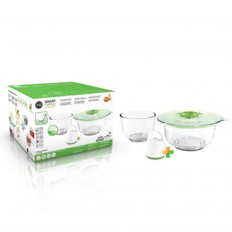 FOSA 雙真空蓋及烘焙用大小玻璃碗套裝 LS40005